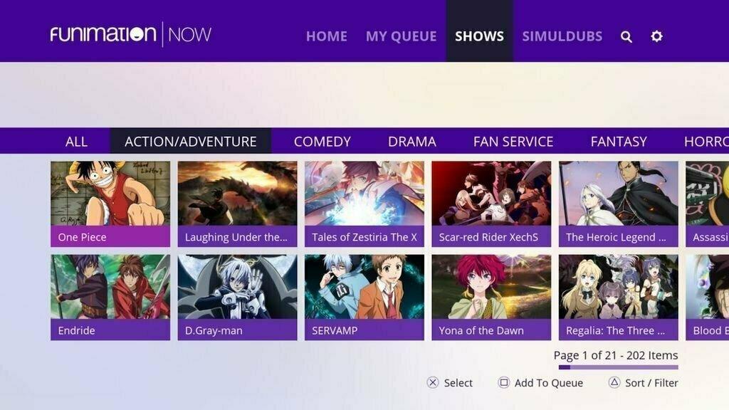 خرید اکانت Funimation